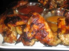 Jamaican Jerk Chicken Wings with Island Barbeque Sauce | Aggie's Kitchen