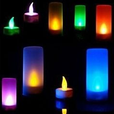 Home Decor Solar Led Candle Lamp Flameless Tea Light Candles Propose Party Wedding Safety Candles Festival Christmas Home Decor Nightlight Jade White