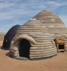 sandbag houses   La Chispa Earthbag Dome