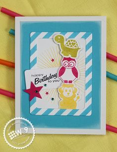 Dawn Woleslagle for Wplus9 featuring Bitty Buddy Valentines stamp set and dies, Clear Cut Stackers: Stars and Clear Cut Stackers: Rounded Rectangle dies.
