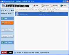 CD data recovery software is used to recover lost data from CD.