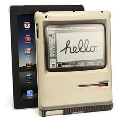 ZOMG! This goes beyond covet. This goes beyond need. This is MUST HAVE. iPad case designed like a Mac classic.