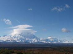 Mount McKinley Lenticular Clouds - Earth Science Picture of the Day