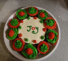 Just for fun...we had extra cupcakes & a little icing leftover so why not...Christmas family fun. (2012)