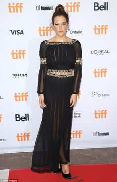 Big night out: Riley Keough attended the 2016 Toronto International Film…