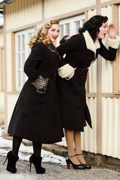 Miss Candyfloss - TopVintage exclusive ~ 50s Gladis Leopard Fur Winter Coat