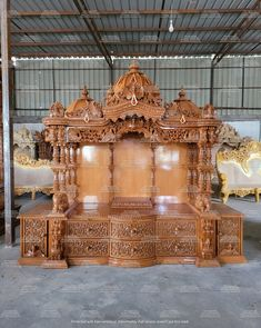 Living Room Partition Design, Pooja Room Door Design, Room Partition Designs, Home Room Design, Home Interior Design, House Design, Wooden Temple For Home, Temple Design For Home, Home Temple