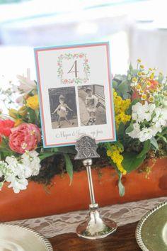 Garden box centerpieces and sweet childhood memories #cedarwoodweddings Major League Love :: Megan+Jamie | Cedarwood Weddings