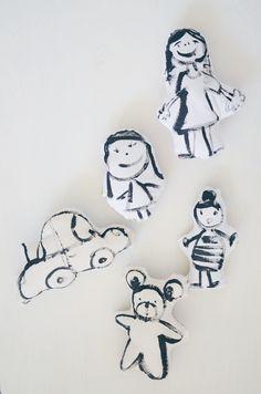 diy: hand-drawn softies