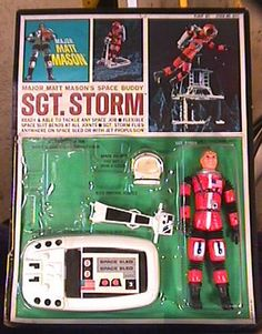 """Sgt. Storm; ally of the great """"Major Matt Mason,"""" rubbery spaceman of the 60s."""