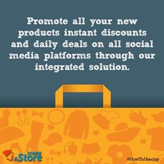 As a #rule for any #eCommerce website, you need to promote your products, discounts extensively. ScribeAStore will provide you the right platform for your Social Media Promotions for your website. #onlinebusiness #eCommerce #eTail #HowToUseDay #India #startup #getsocial