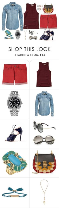 """""""Springtime"""" by claudia-regina-vieira-correa ❤ liked on Polyvore featuring prAna, Hollister Co., Rolex, Denim & Supply by Ralph Lauren, Chloé and House of Harlow 1960"""