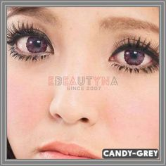 Candy Grey Diameter : Base Curve : Water Content : Life Span: 1 Year Disposable (recommend use for months) with proper lens care. Package : 2 pieces of lenses ( Vials / Blisters – vary by series ) Origin: South Korea Grey Contacts, Colored Contacts, Cosmetic Contact Lenses, Circle Lenses, Eye Circles, Cute Eyes, Eye Color, Candy, Catalog
