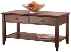 FOREMOST CFH10222-FMD SHERIDAN COFFEE TABLE, WALNUT - Click image twice for more info - See a larger selection of  coffee tables with storage at http://zcoffeetables.com/product-category/coffee-tables-with-storage/ - home, home decor, home ideas, home furniture, office furniture, table, gift ideas, living room