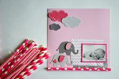DIY Faire-part « Sur un nuage » #DIY pour #naissance #Birth, #fairepart #fille