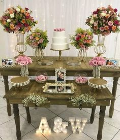Top 14 Must See Rustic Wedding Ideas ---Wooden table wedding food bar with blush floral decorations with led letters, country weddings in barn/farmhouse venues. 50th Wedding Anniversary Decorations, Engagement Party Decorations, Birthday Party Decorations, Wedding Table, Rustic Wedding, Wedding Pinterest, Event Decor, Wedding Planner, Bridal Shower