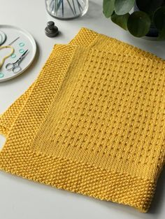 Making Plans blanket is easy to knit with worsted weight yarn. The pattern includes instructions for six blanket sizes. Knitting Terms, Knitting For Charity, Circular Knitting Needles, Baby Knitting, Knitted Throw Patterns, Knitted Afghans, Knitting Patterns, Easy Knit Baby Blanket, Afghan Blanket