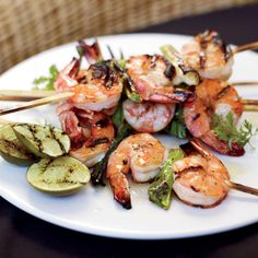 Grilled Miso Shrimp // More Fabulous Grilled Shrimp: http://www.foodandwine.com/slideshows/grilled-shrimp #foodandwine #fwpinandwin