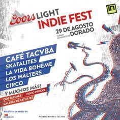 #CoorsLight #IndieFest! Café #Tacvba The #Skatalites Band, #LaVidaBohéme, #LosWálters #CircoBand y mucho más! El sábado, 29 de agosto en el Parque Ecológico de Dorado. Consígue tus boletos YA en @ticketpop >> http://bit.ly/clindiefest  #coors #indie #music #musica #fest #festival #goodvibes #conciertos #ticketpop #concert #concerts #concerttime #concertlife #music #love #instagood #beat #beats #musica #concierto #boletos #tickets #onsale #cafetacuba