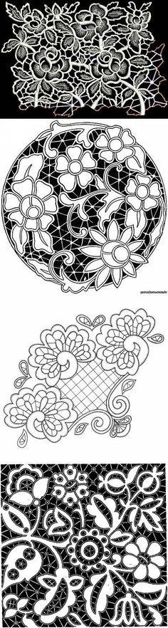 Шкатулочка с декором имитации вышивки ришелье.. | Вышивка | Постила