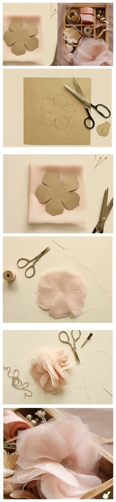 beautiful diy organza flower - breathless!
