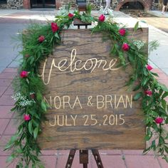 Wedding welcome sign. Vintage wedding Diy bride, rustic sign, garden wedding