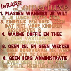 leRAAR Zomerluxe. Heerlijk lang genieten van je vakantie #onderwijs #leRAAR www.facebook.com/topwijs