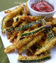 Baked Zucchini Fries - Our Best Bites; quick and easy side dish that is super yummy.
