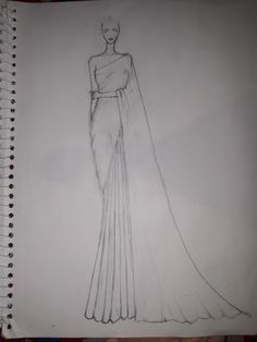 Dress Design Drawing, Dress Design Sketches, Fashion Design Sketchbook, Art Drawings Sketches Simple, Fashion Design Drawings, Fashion Drawing Dresses, Fashion Illustration Dresses, Fashion Model Sketch, Fashion Sketches