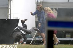 Tina Fey and Amy Poehler are stronger than Sacha Baron Cohen | See them take him out on set