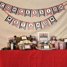 Movie Night Party Concession Stand
