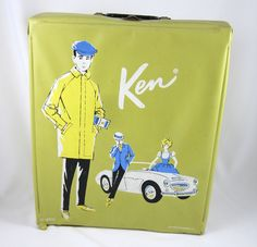 Ken Doll Case Vintage Ponytail Barbie Mattel 1962 Gold Single Sports Car #Mattel #Ponytail