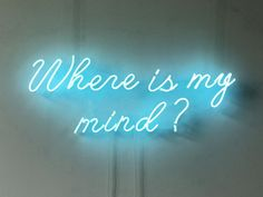 New Where Is My Mind Neon Art Sign Handmade Visual Artwork Home Wall Decor Light