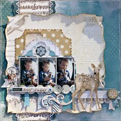 Bo Bunny: Woodland Winter Scrapbook Pages
