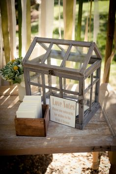 Cute idea for the bride and groom at reception