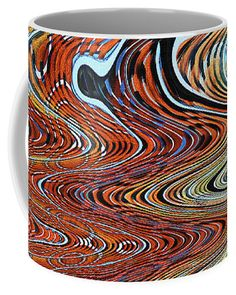 Abstract Tempe Center For The Arts #0285pcwt Coffee Mug featuring the digital art Abstract At Tempe Center For The Arts #0285pcwt Abstract by Tom Janca
