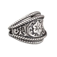 Carolyn Pollack Jewelry   American West Cowgirl Sterling Silver Barrel Ring