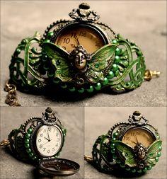 Hadas de absinthe reloj del pun  o por pinkabsinthe en Etsy