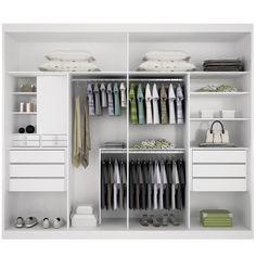 Sugestão para interior de guarda-roupas
