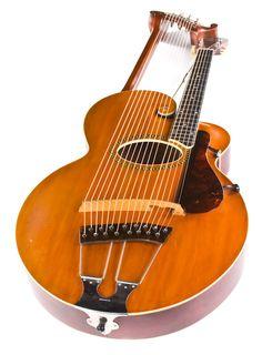 Vintage 1916 Gibson Harp Guitar