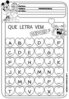 Letter Tracing Worksheets, Tracing Letters, Writing Worksheets, Preschool Worksheets, Portuguese Lessons, Learn Portuguese, Code Alphabet, Maternelle Grande Section, Portuguese Language