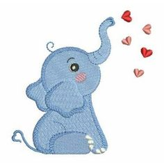 Valentine Elephant embroidery design from embroiderydesigns.com