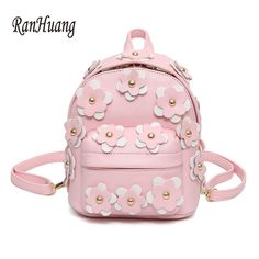 f02d40e9a8 RanHuang New Arrive 2017 Women Flower Backpack Preppy Style School Bags For  Teenage Girls Ladies Small