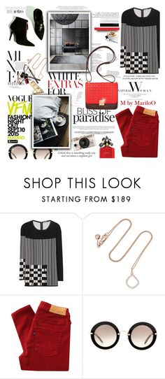 """""""You Are The Light In A Cloudy Day...........................xx"""" by mariloo ❤ liked on Polyvore featuring Bottega Veneta, Monica Vinader, Haze, Fashion's Night Out, Levi's Made & Crafted, Miu Miu, Cynthia H Designs, Marc Jacobs, Urban Outfitters and Tom Ford"""
