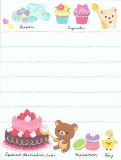 mini Memo Pad Rilakkuma bear sweets & cake San-X 4