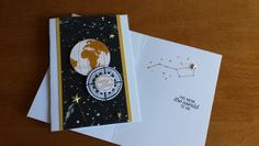 Going Global card, in and outside. For my brother. Stampin up products.