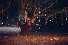 Orange County Hanging Lights Wedding Proposal