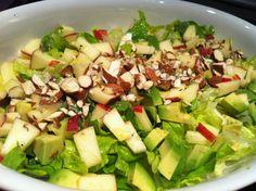 Evas Køkken: Salat med æble - avocado og citronolie