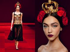 For Spring Summer 2015, Dolce&Gabbana have transformed the devotional icon of the sacred heart into the motif of the collection.  #DGGOLDENHEART  www.dolcegabbana.com