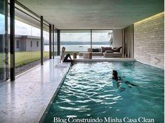 piscinas internas piscina dentro casa casas luxo interna coberta pool construindominhacasaclean indoor pools conforto vidro interiores swimming artigo dia integrada